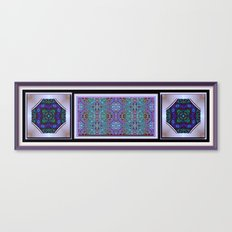 Lacy Print with Medallions Canvas Print