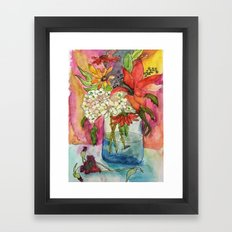 Fall Flower Bouquet Framed Art Print
