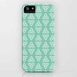 Green Celtic Knot: Trinity Knot iPhone Case
