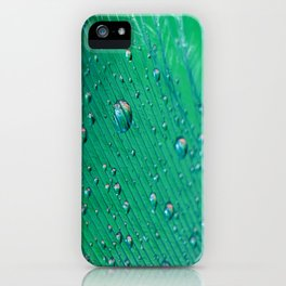 Emerald Feather iPhone Case