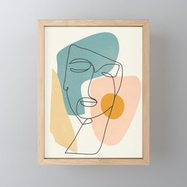 Abstract Face 25 Framed Mini Art Print