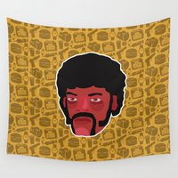 pulp fiction Wall Tapestries featuring Jules Winnfield - Pulp Fiction by Kuki