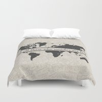 not all who wander Duvet Covers featuring Wander by PrintAnnex