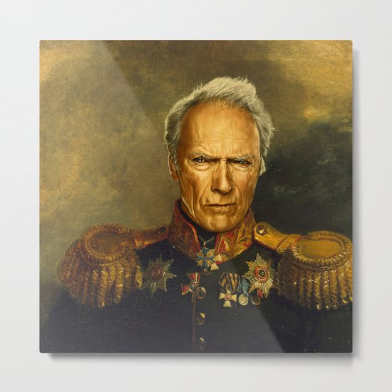 Clint Eastwood - replaceface Metal Print