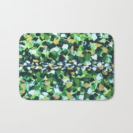 Colorful Green Abstract Painting Bath Mat