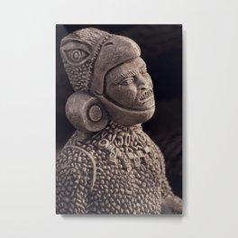 Aztec Portrait Metal Print