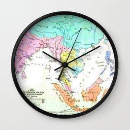 Intercurse Map Wall Clock