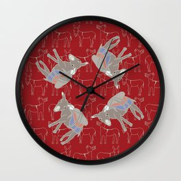 © Litte Burro Wild West Red Wall Clock