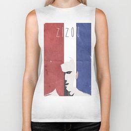 Zinedine Zidane, minimal portrait, Zizou, illustration, french football player, soccer, ballon d'or Biker Tank