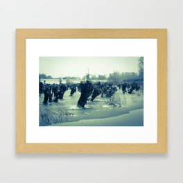 Waardenburg, Icy river forelands (WALND3845) Framed Art Print