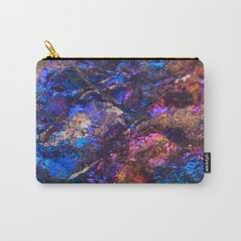 Blue Rainbow Oil Slick Crystals Carry-All Pouch