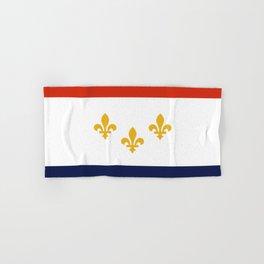 flag of new orleans,NOLA,Crescent City,Big Easy,Nawlins, jazz,Lousiana,french,cajun,treme Hand & Bath Towel