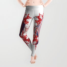 Red Berries Fish Leggings