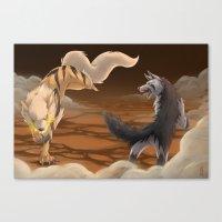 battlefield Canvas Prints featuring Battlefield by Strawberryhelmet
