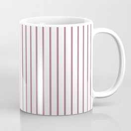 Princess Plum Pinstripe on White Coffee Mug