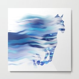Horse whispered by the wind Metal Print