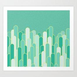 Stripes mint  flavour Art Print