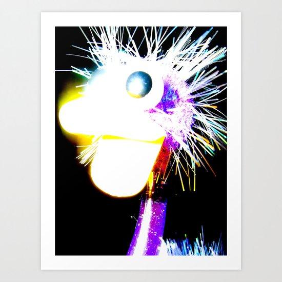 The Funky Ostrich Art Print