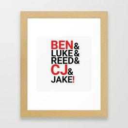 The BAMA Boys Framed Art Print