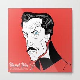 Vincent Price Metal Print