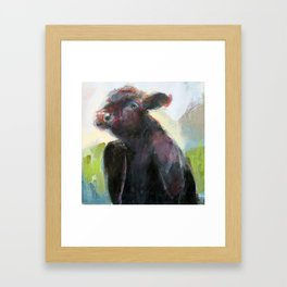 Wise Bull Framed Art Print