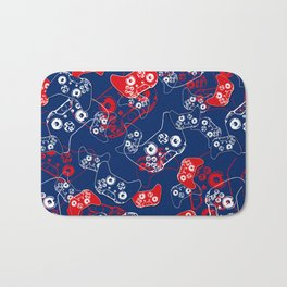 Video Game Red White & Blue 2 Bath Mat
