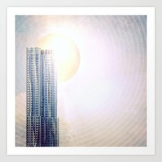 New York by Gehry Illustration Art Print