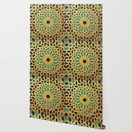 -A1_2- Golden Original Traditional Moroccan Artwork. Wallpaper