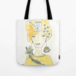 Signora in giallo Tote Bag