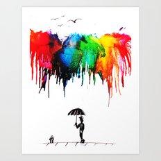 Colour Shower Art Print