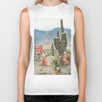 cactus Biker Tanks featuring Decor by Sarah Eisenlohr