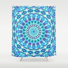 Jewel Tone Mandala Shower Curtain