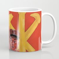 korea Mugs featuring Military in North Korea by kaliwallace