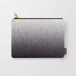 Pink & Gray Sparkle Glitter Carry-All Pouch