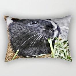 Painted Guinea Pig 3 Rectangular Pillow