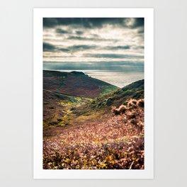Cornish seascape, Landscape photography, Giclee print, Nautical wall decor, secret beach, Nanjizal Art Print