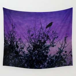 Raven Sentinel Wall Tapestry