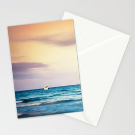 boats on the Mediterranean Stationery Cards