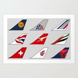 Tail Fins Collection Art Print