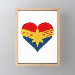Superhero Heart Captain Framed Mini Art Print