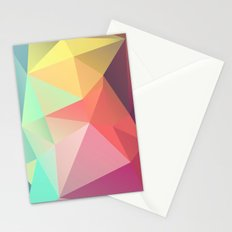 geometric V Stationery Cards