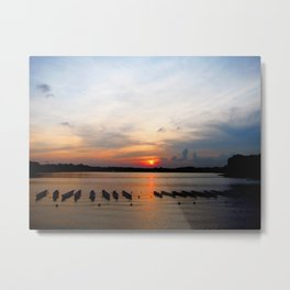Sunset before the Race Metal Print