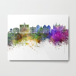 Tübingen skyline in watercolor background Metal Print