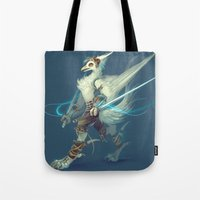 soldier Tote Bags featuring Soldier by Liz Liu