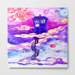 Tardis Colour Metal Print
