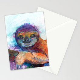 Sloth Mixed Media on Yupo Stationery Cards