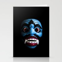 bali Stationery Cards featuring Bali mask by VanessaGF