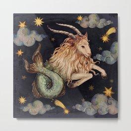 Zodiac sign Capricorn Metal Print