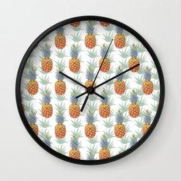 Pineapple Tropical Pattern Wall Clock