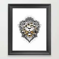 Gold Eyed Tiger Framed Art Print